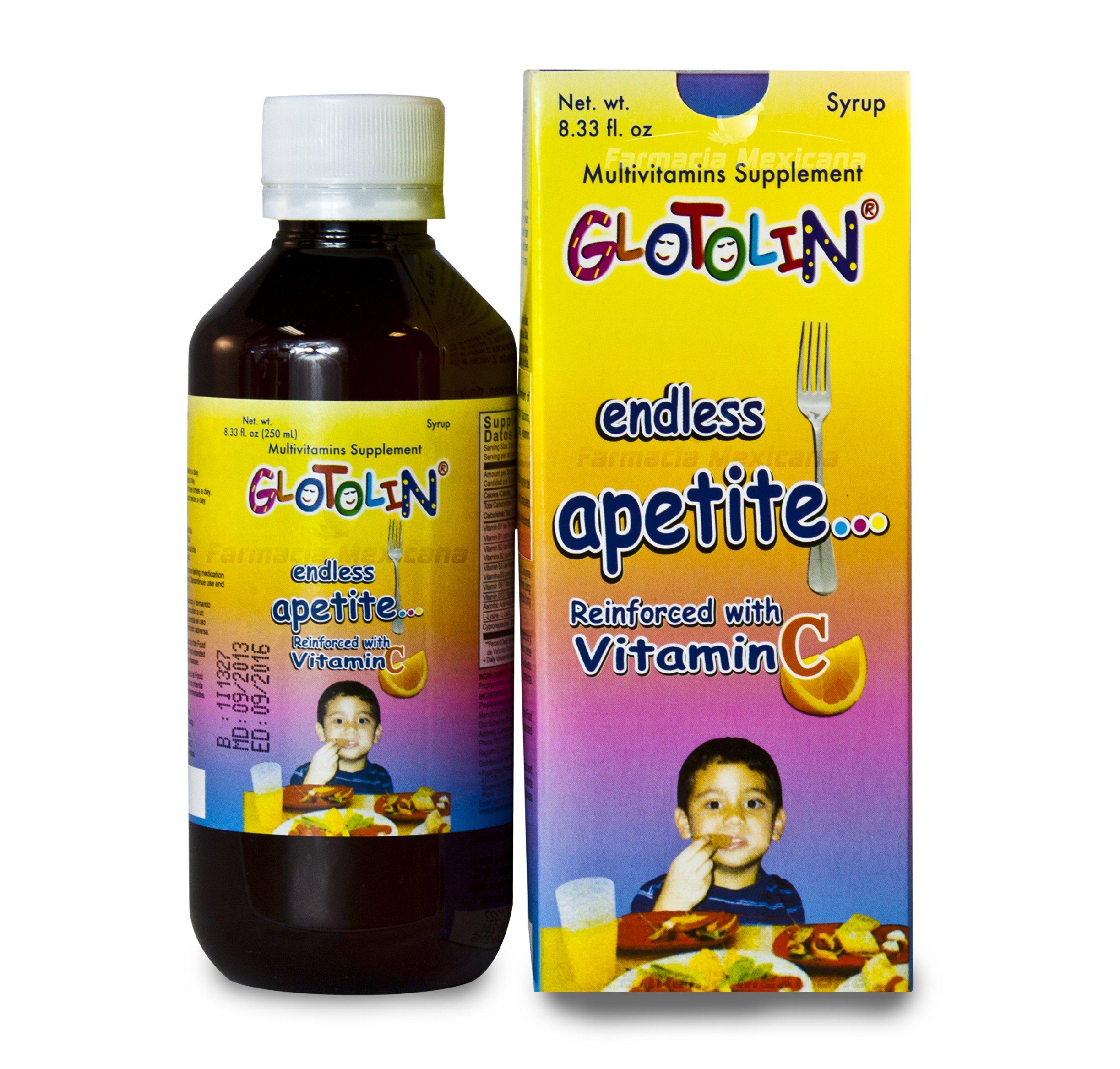 Glotolin Appetite Stimulant Kids Syrup 8.33 oz - Jarabe Estimulant Apetito