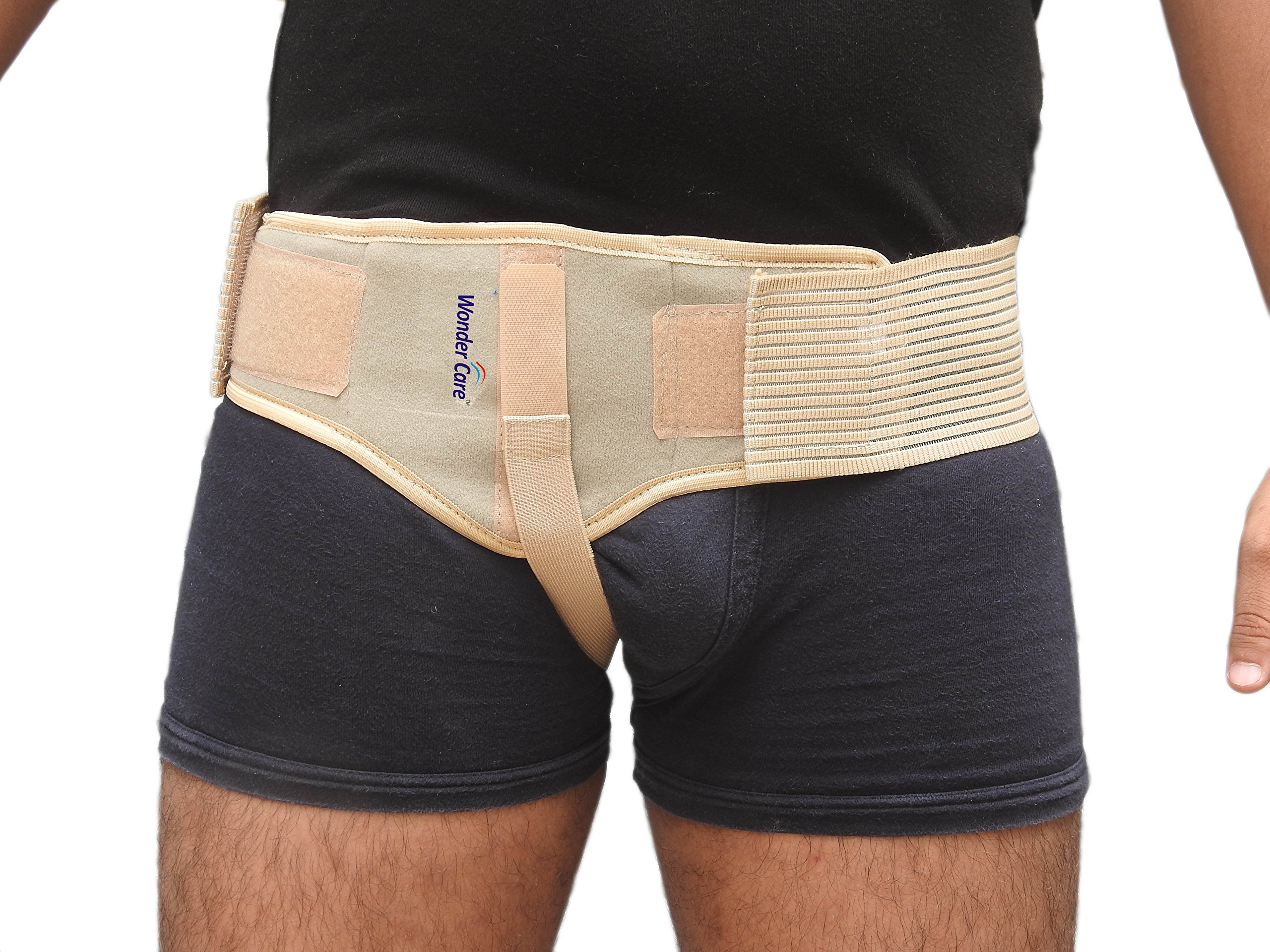Wonder Care- Inguinal Hernia Support Truss for Single Inguinal or Sports Hernia with one Removable Compression Pads & Adjustable Groin Straps Surgery & injury Recover A-103 Right-M