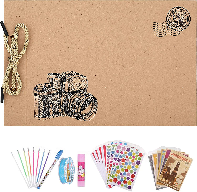 OUME Scrapbook Álbum de Fotos Libro de Visitas de La familia con 80 páginas Presentes para Regalo de Valentín Día de Aniversario Navidad Cumpleaños para Esposa Hija Madre