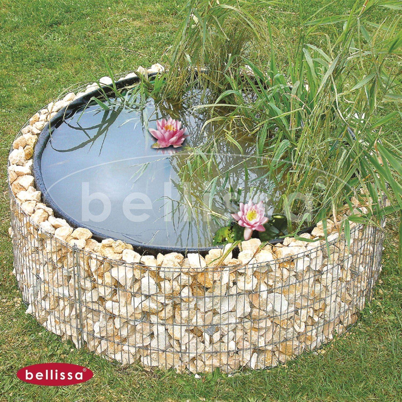 Gartenwelt Riegelsberger Bellissa - Estanque redondo, diámetro de 146/126 cm, altura 40 cm, para jardín: Amazon.es: Jardín