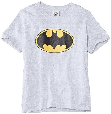 8d477c7e DC Comics Girls Official Batman Logo Kids T-Shirt, Heather Grey, 7 Years  (Manufacturer Size:30