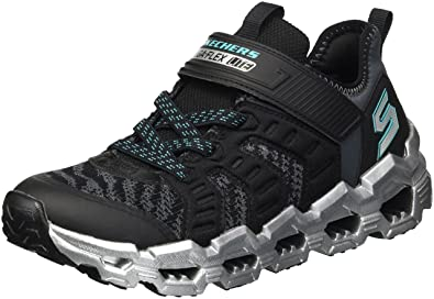 ff191ef34ee0 Skechers Kids Boys  MEGA-Flex LITE 2.0 Sneaker Black Charcoal 1 Medium US