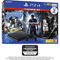 PS4 500GB with 3 PS Hits Game Bundle (PS4) (Exclusive to Amazon.co.uk)