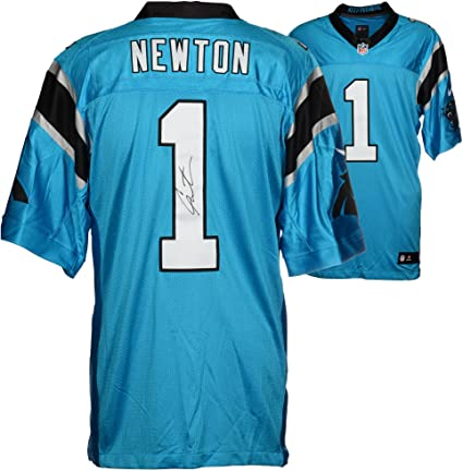 wholesale dealer a92f3 9005f Cam Newton Carolina Panthers Autographed Nike Limited Blue ...