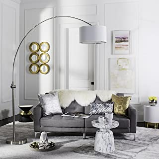 Safavieh LIT4351A Lighting Collection Ascella Nickel Arc Floor Lamp, 86""