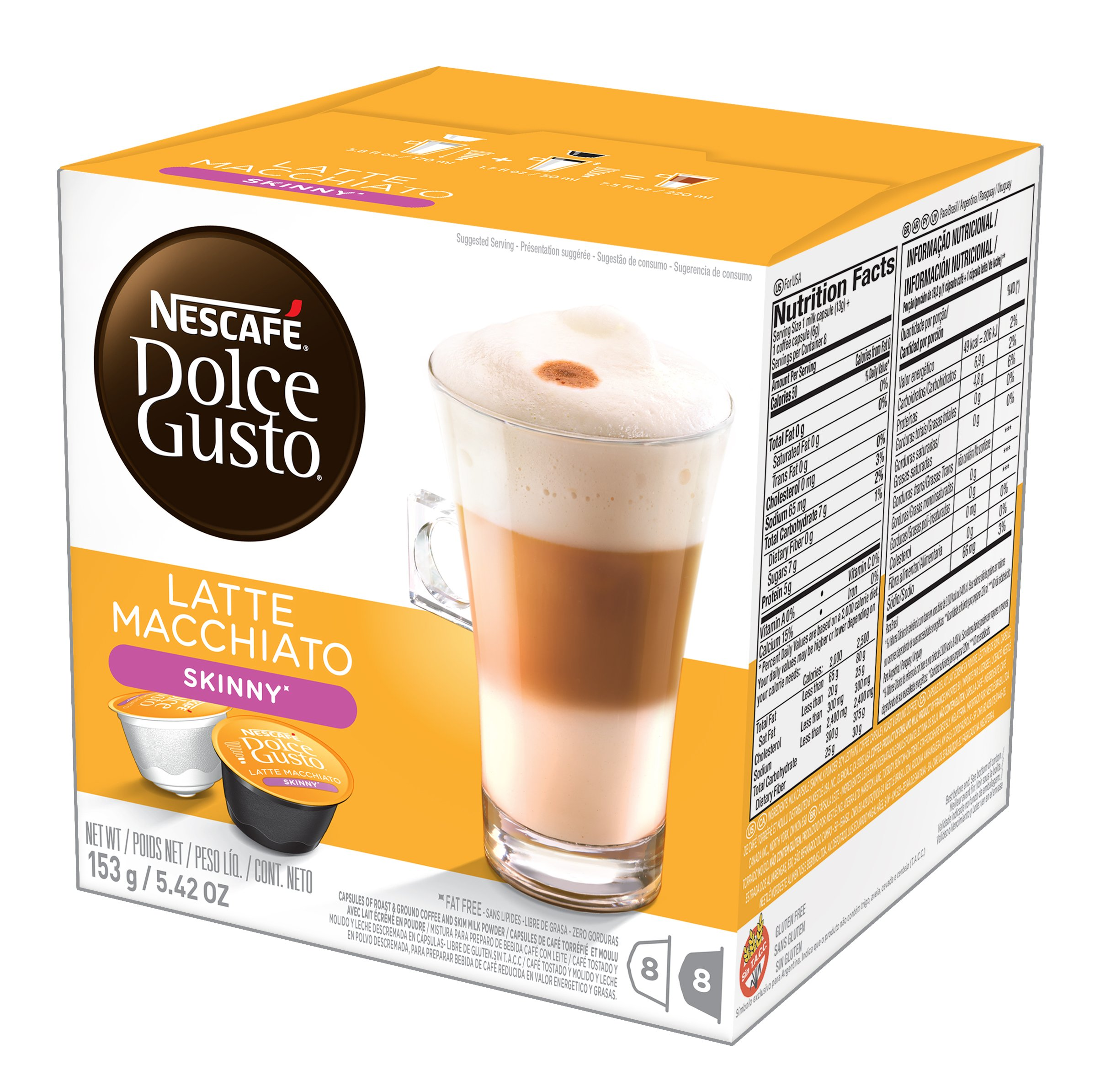 nescaf dolce gusto coffee capsules cappuccino 48 single serve pods makes 24 specialty cups. Black Bedroom Furniture Sets. Home Design Ideas