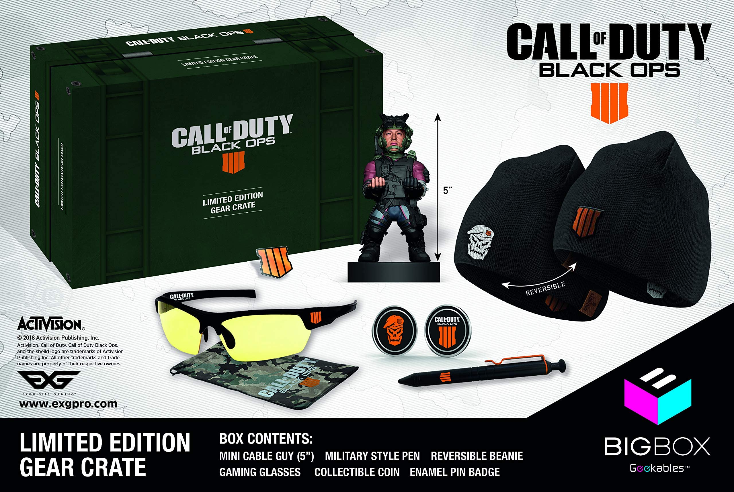aafc3ed1d Amazon.com: Exquisite Gaming Call of Duty Black Ops IV Big Box ...