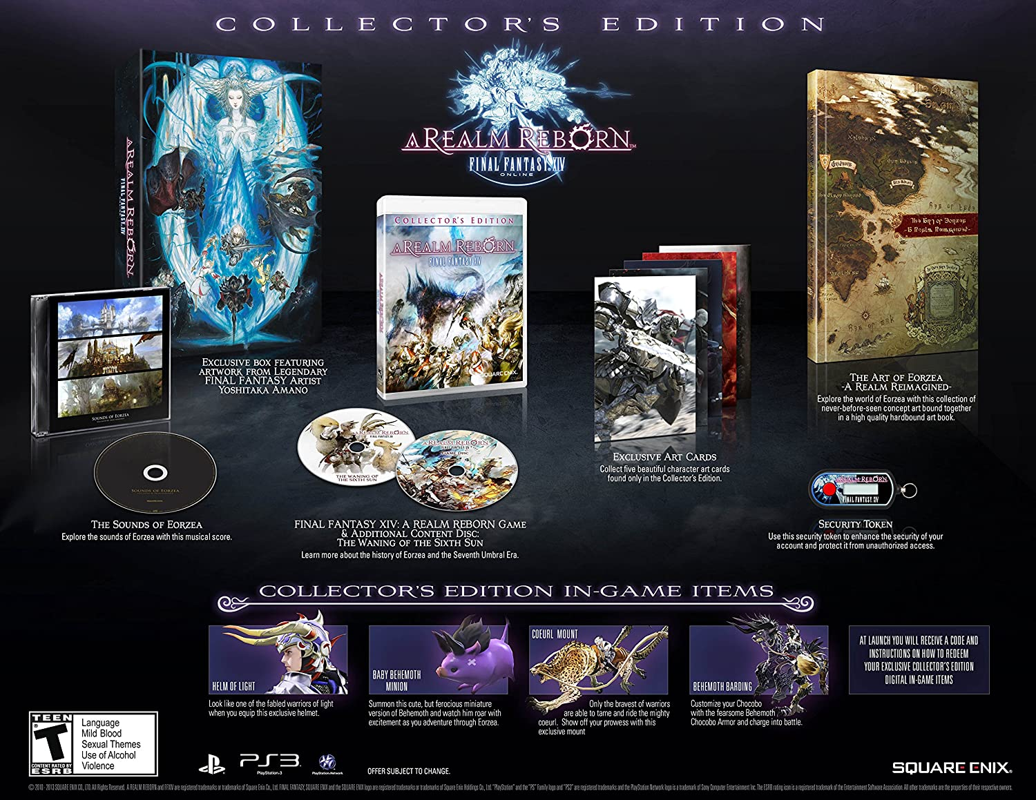 Amazon com: Final Fantasy XIV: A Realm Reborn Collector's Edition