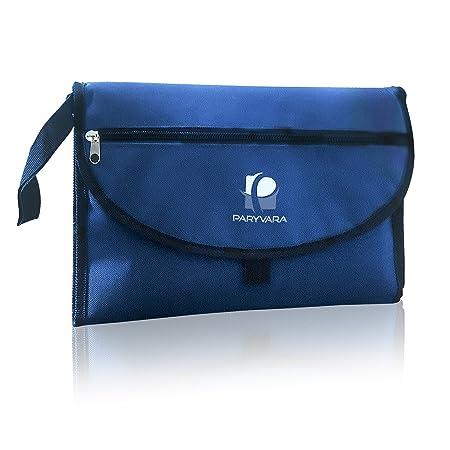 Cambiador portátil resistente al agua. Acolchado y con grandes bolsillos de almacenamiento. Ideal para uso en casa y de viaje.: Amazon.es: Bebé