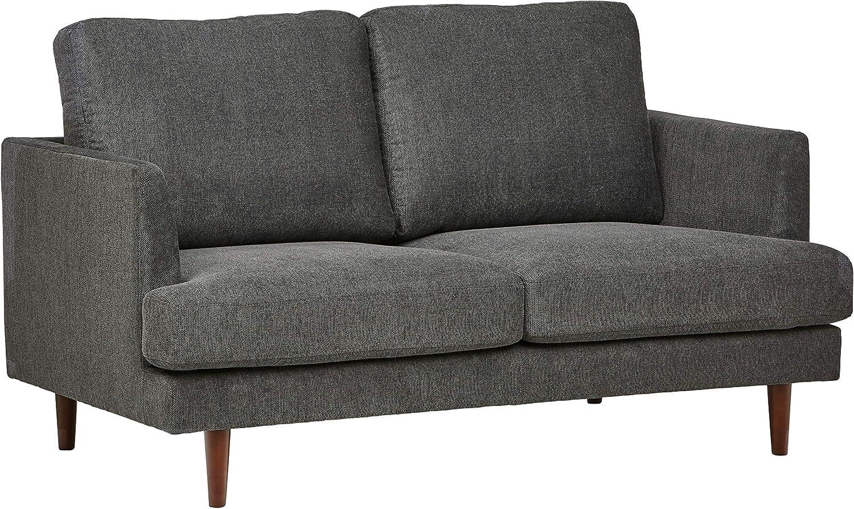 Amazon Brand – Rivet Goodwin Modern Loveseat Sofa, 61.8