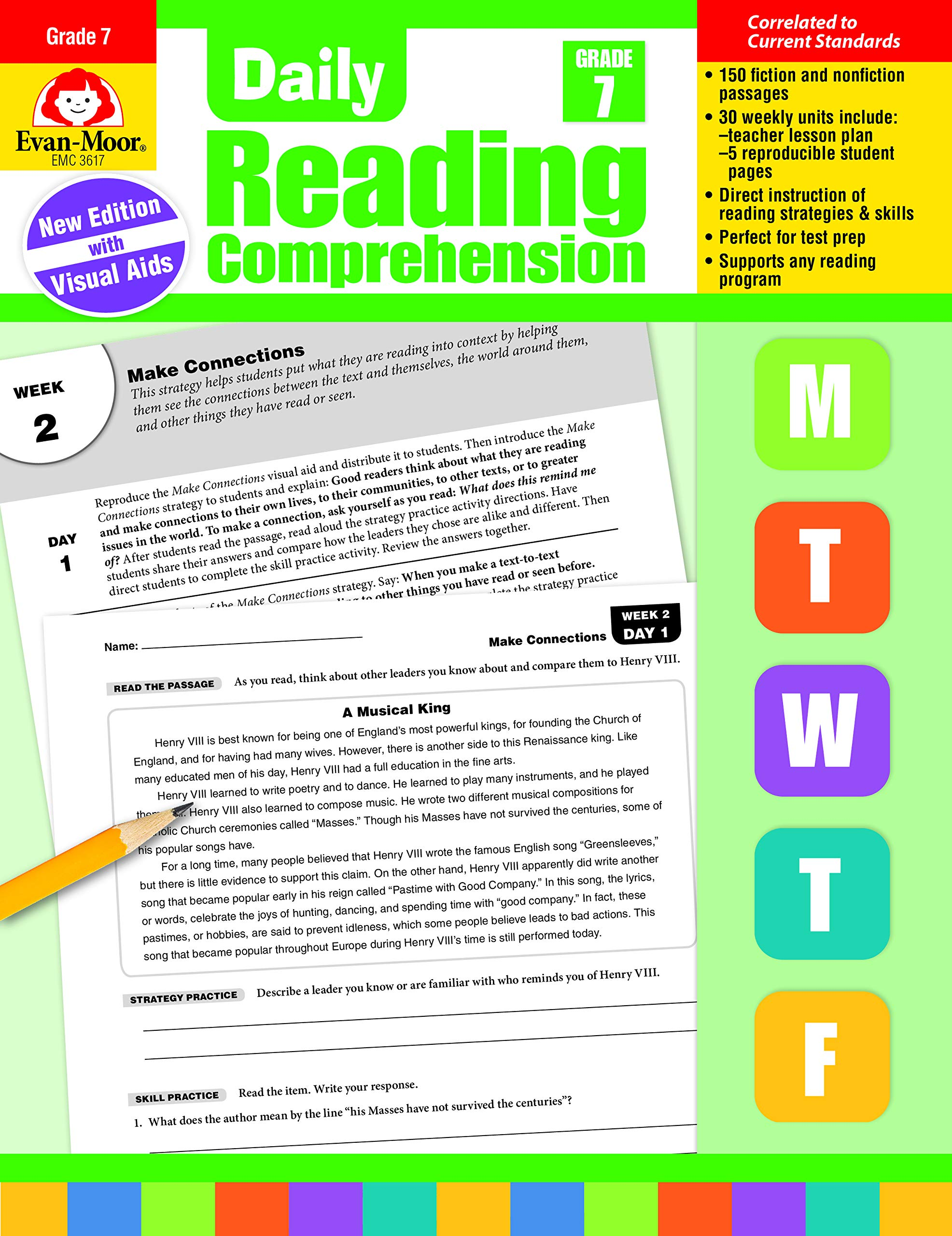 - Daily Reading Comprehension, Grade 7: Amazon.ca: Evan-Moor