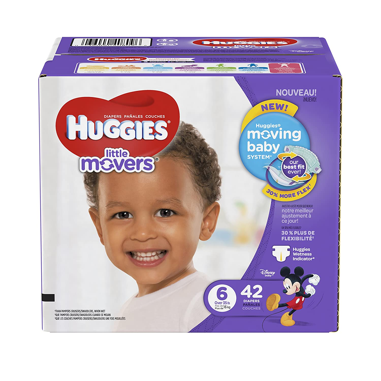 Amazon.com: HUGGIES Little Movers Diapers, Size 6, 42 Count (Packaging May Vary): Prime Pantry