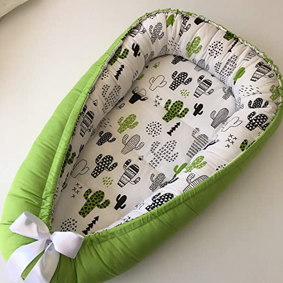 W Baby Pod Nest Newborn Reversible Cocoon Bed Sleep Newborn Cushion Xmas Gift w