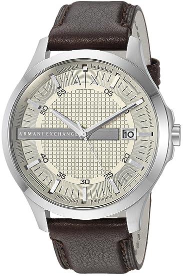 e66a88f77f8e Armani Exchange AX2100 Reloj marrón de cuarzo con visualización analógica  para hombre