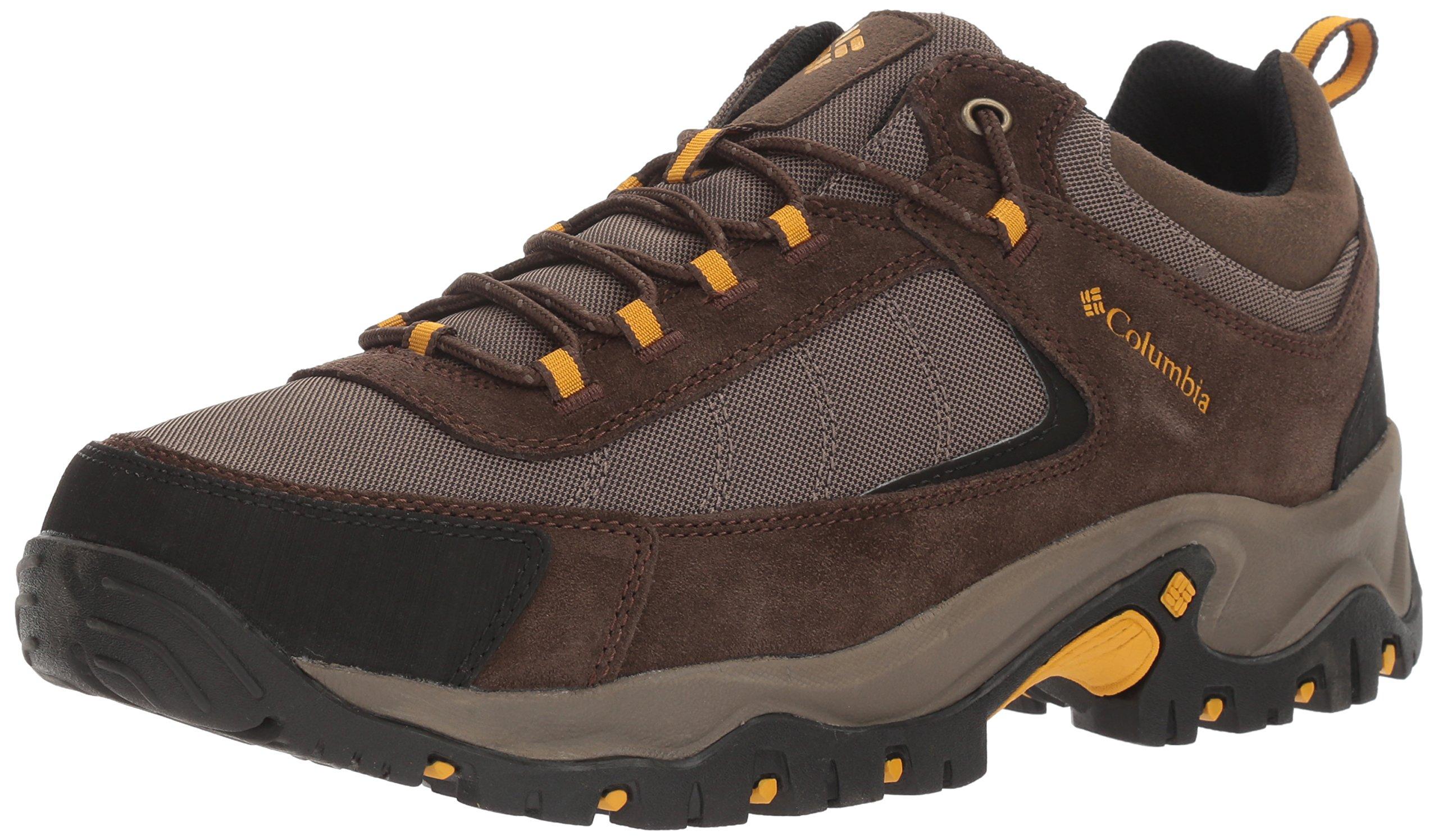Columbia Men's Granite Ridge Hiking Shoe, Mud, Golden Yellow, 13 D US