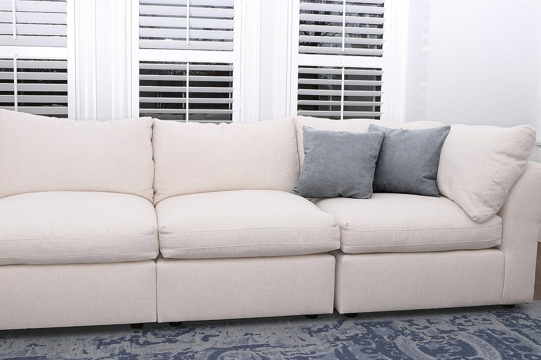 Amazon.com: Negro microsuede sofá almohadas/Sets de dos ...