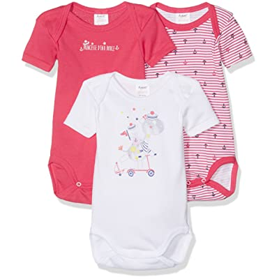 Alphabet 3 Us Mc, Body Bébé Fille, lot de 3