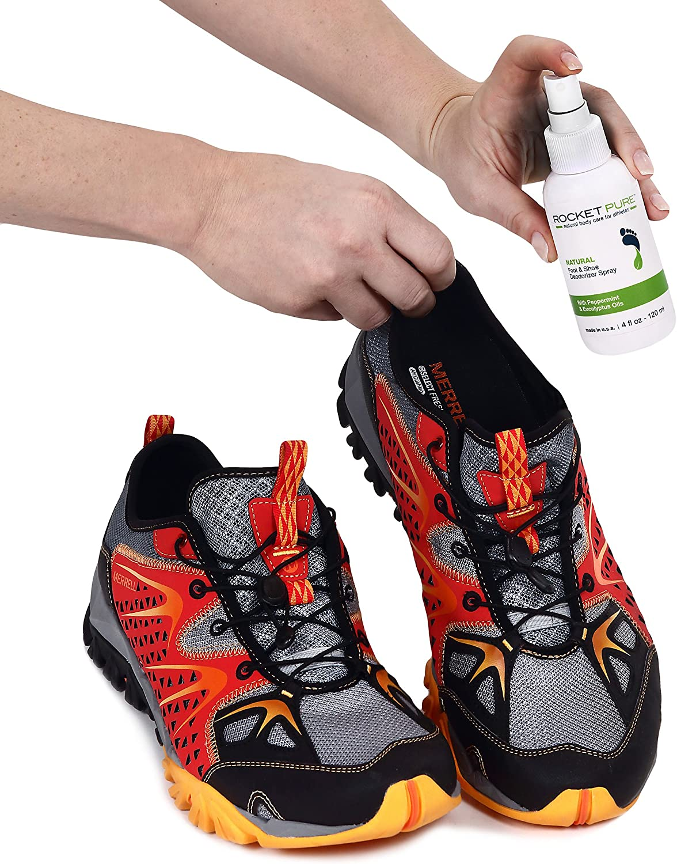 2. Rocket Pure Natural Mint Shoe Deodorizer, Foot Deodorant Spray.