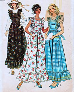 product image for Simplicity 6218 Misses Pinafore, Dress or Jumper and Blouse Sewing Pattern Vintage 1974 Check Offers for Size