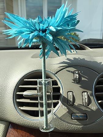 Car Vase And Car Flower Blue Spider Gerbera For Any Car High