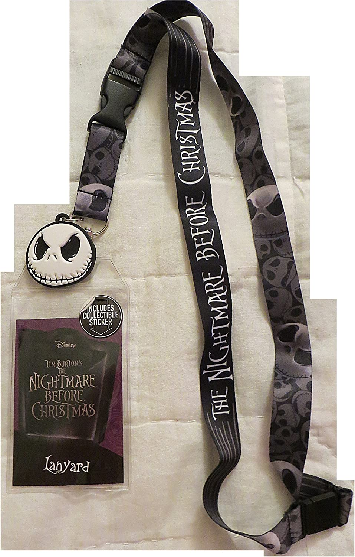 Nightmare Before Christmas//Jack Skellington Lanyard I.D Holder Keys,