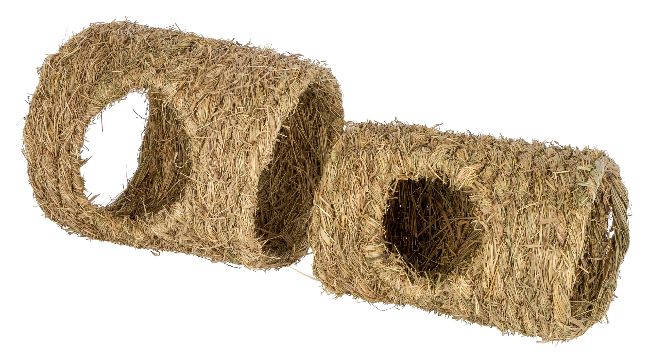 Kerbl Two Grass Tunnel with Hole, 20 cm x 30 cm/24 x 30 cm