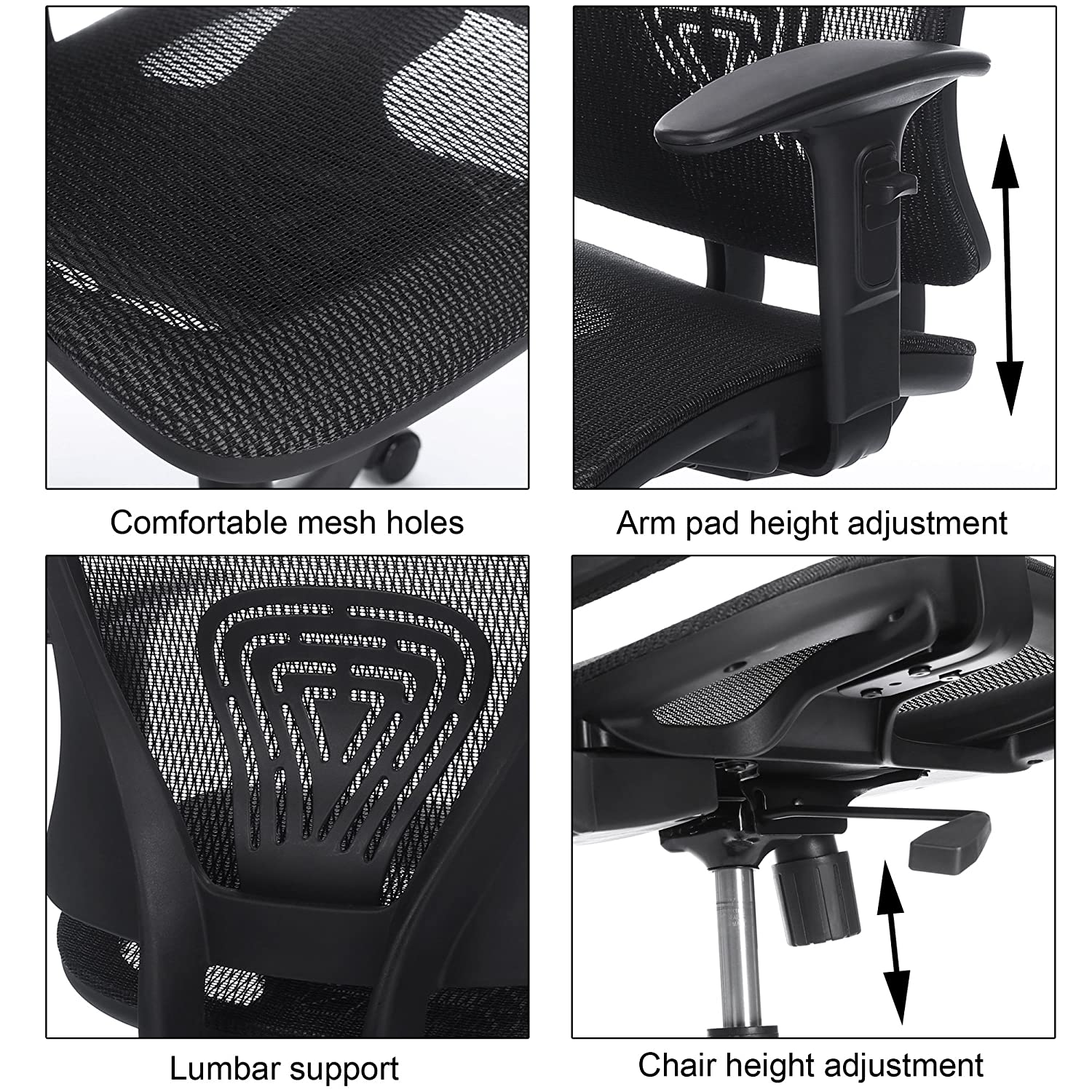 Amazon Homdox Mid Back Ergonomic Mesh fice Chair with