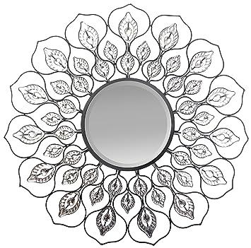 Amazon.com: Lulu Decor, Decorative Lotus Wall Mirror, metal wall ...