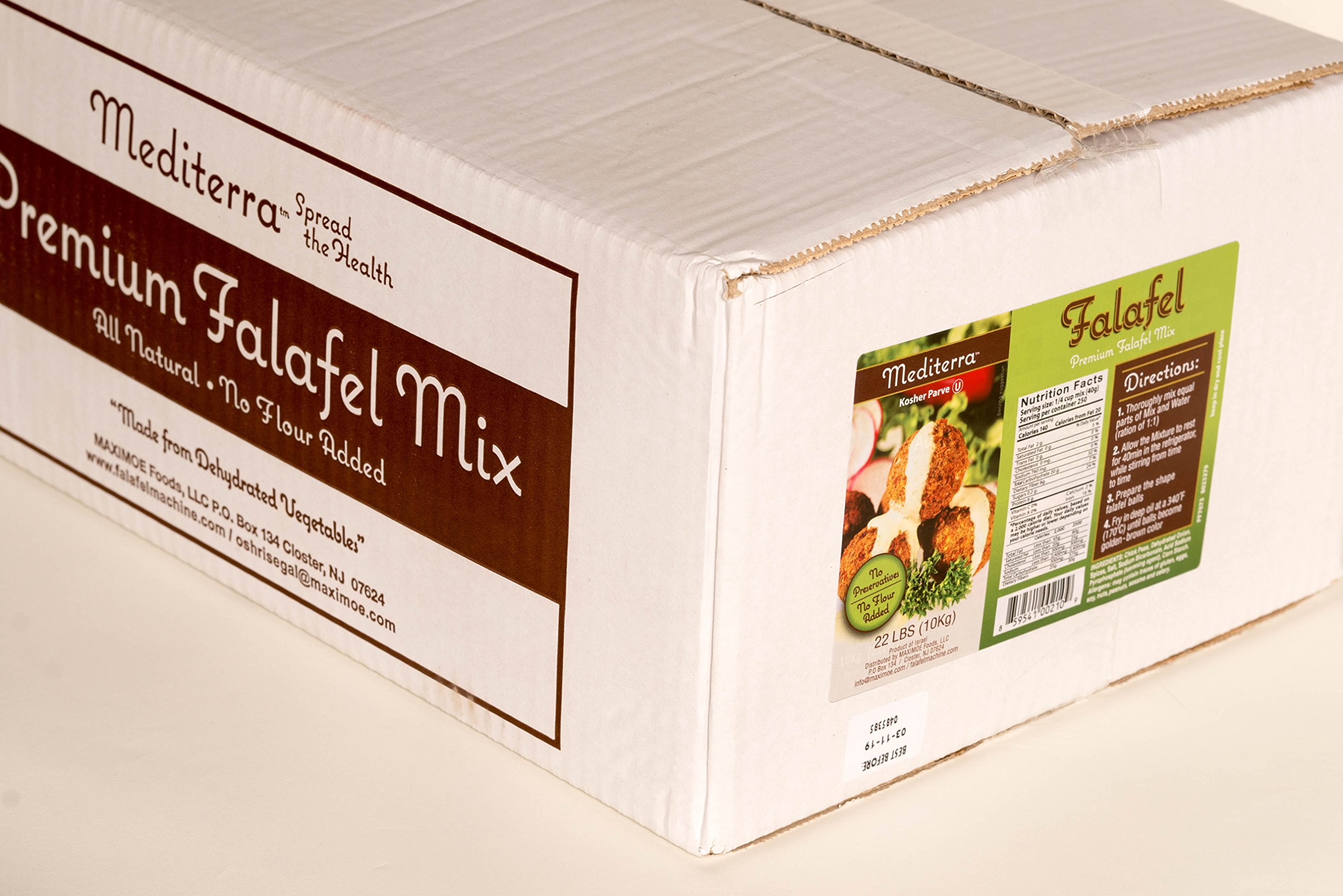 Mediterra Spread The Health Premium Falafel Mix (22 Lbs. yields 1,300 balls) by Mediterra Spread The Health