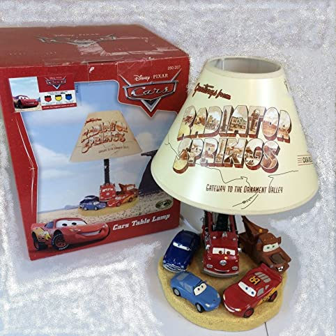 Disney pixar cars limited edition radiator springs rare disney pixar cars limited edition quotradiator springsquot rare collectible resin table lamp featuring mozeypictures Image collections