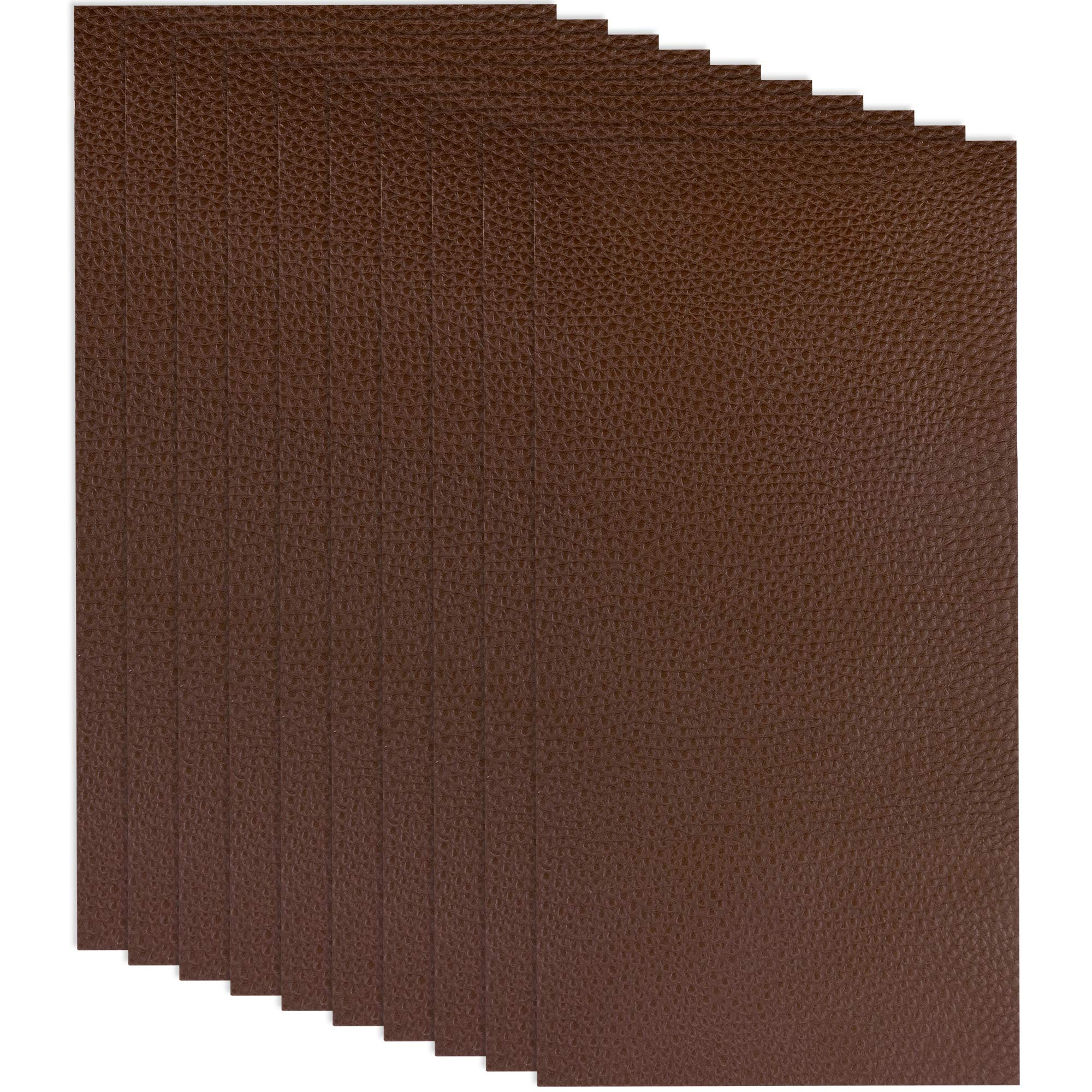 10 Pieces Leather Patches Leather Repair Kit for Couch Furniture Sofas Car Seats Handbags Jackets (Dark Brown)