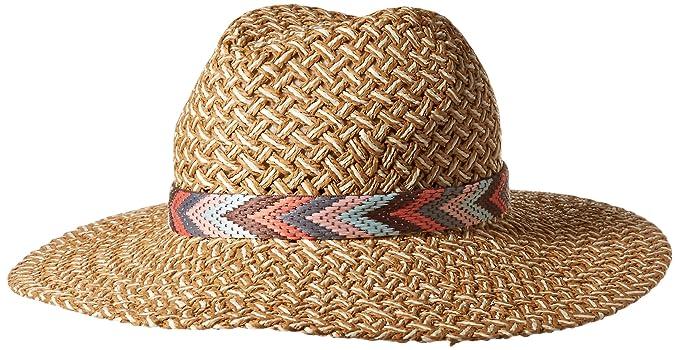 f08eabf3bc9d3f Genie by Eugenia Kim Women's Willa Wide Brim Hat, Camel/White one Size