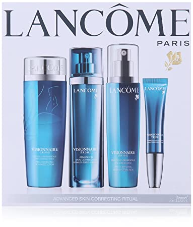 Lancome  Visionnaire Advanced Skin Correcting Ritual Kit Dew Puff  Konjac Sponge Asian Clay