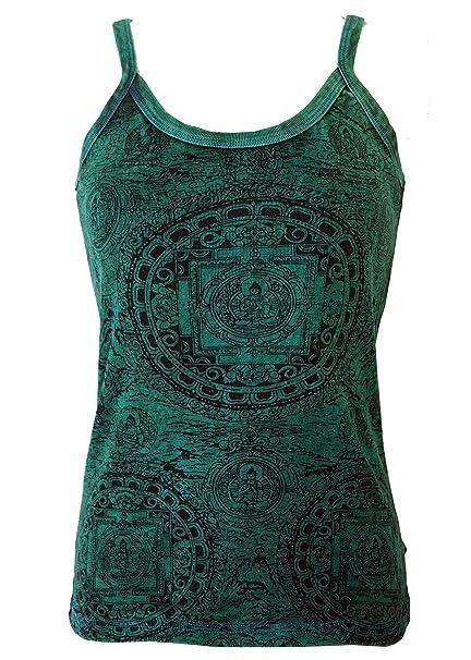 GURU-SHOP Top Yoga Mandala/Colour Azul Tops y Camisetas ...