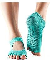 ToeSox Women's Bella Half Toe Grip Non-Slip for Ballet, Yoga, Pilates, Barre Toe Socks