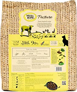 Wishbone Pasture Grain Free and Gluten Free Cat Food, Made from New Zealand Lamb Dry Cat Food, All Natural Dry Cat Food, High Protein, Minerals and Taurine Dry Cat Food, For All Cat Life Stages, 12lb