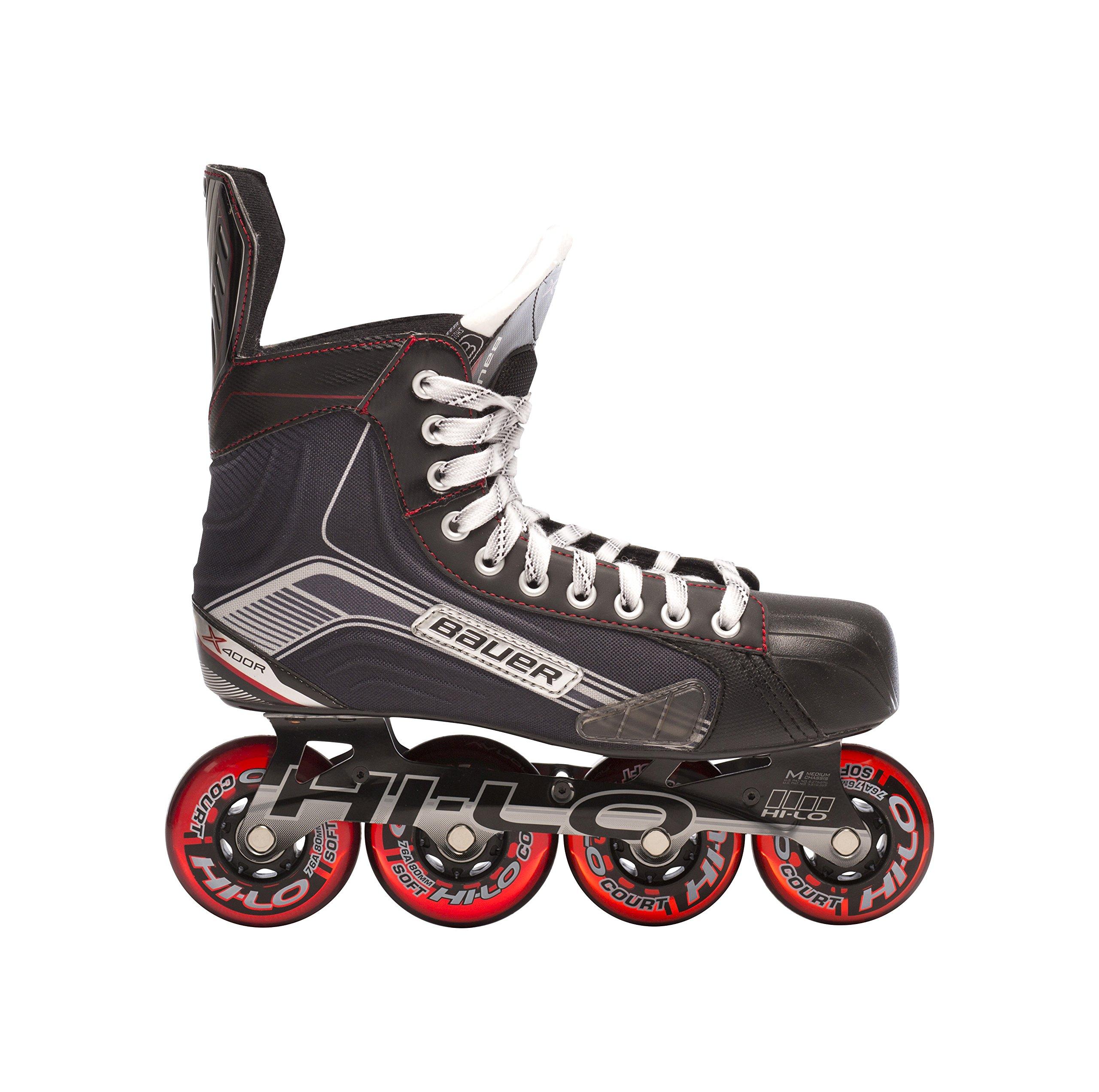 Bauer Junior Vapor X400R Roller Hockey Skate, Black, Size 3 by Bauer