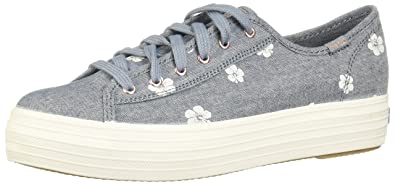 a7606deac8d61 Keds Women s Triple Kick Hibiscus Blue 11 B US  Amazon.co.uk  Shoes ...
