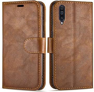 Case Collection Funda de Cuero para Samsung Galaxy A70 (6,7 ...