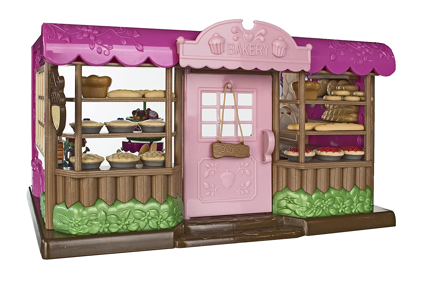 Amazon Lil Woodzeez Tickle Your Taste Buds Bakery Set Can Be Used With All Families And Environments Ages 3 Toys Games