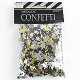 Signature Balloons Gold, Black & Silver Metallic Star Confetti (70G)