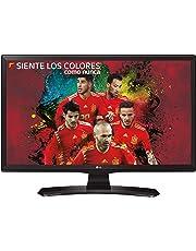 "LG Electronics 24TK410V-PZ - Monitor/TV de 24"" LED con TDT2 HD (1366 x 768 Pixeles, Modo Juego, USB AutoRUN), Color Negro"