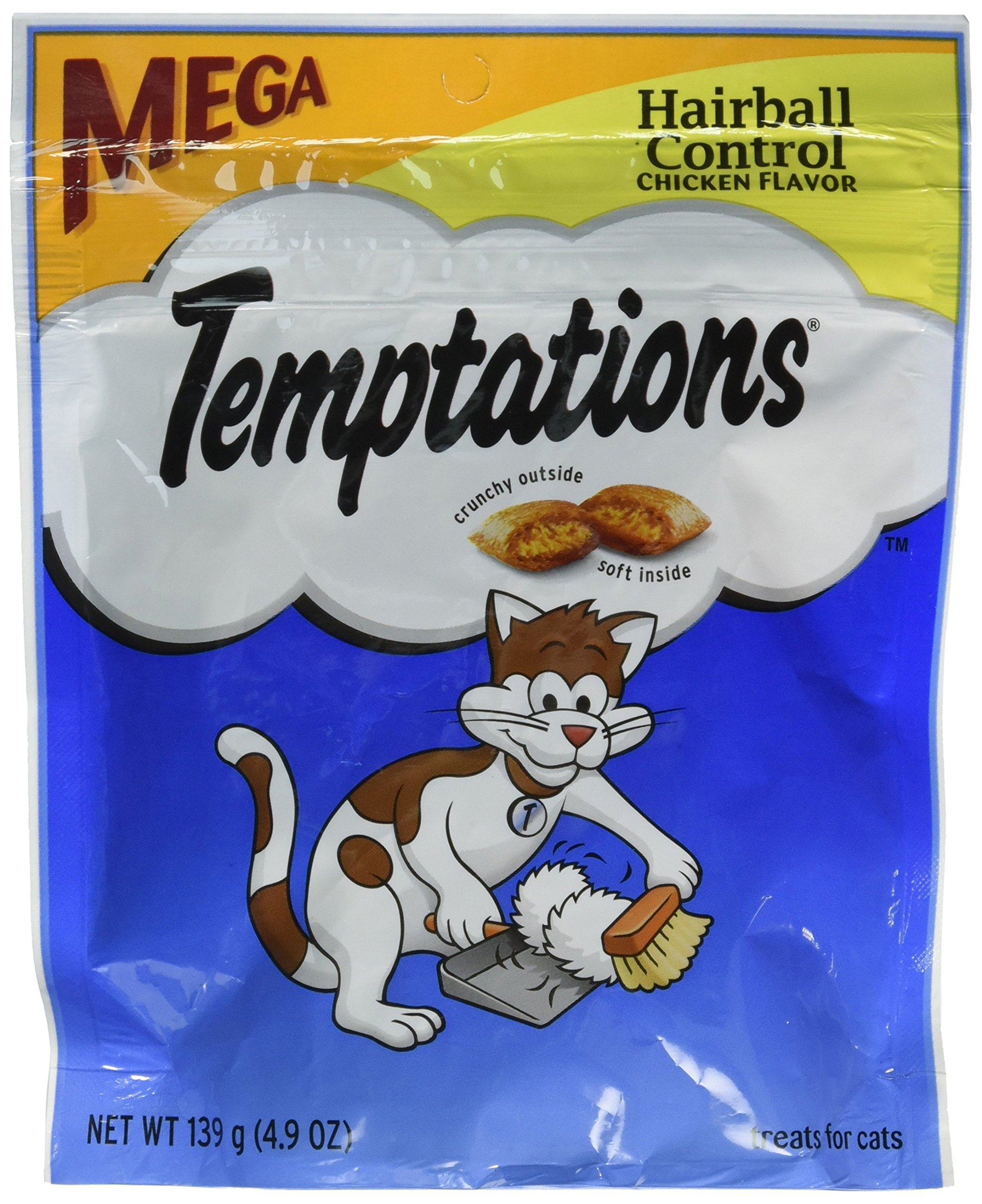 Whiskas Temptations Hairball Control Chicken Flavor Cat Treats 4.9 oz by Mars (3-Pack Bundle) by MARS Inc
