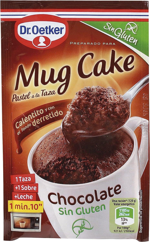 Dr. Oetker - Chocolate Mug Cake, Sin Gluten, 1 unidad: Amazon.es: Alimentación y bebidas