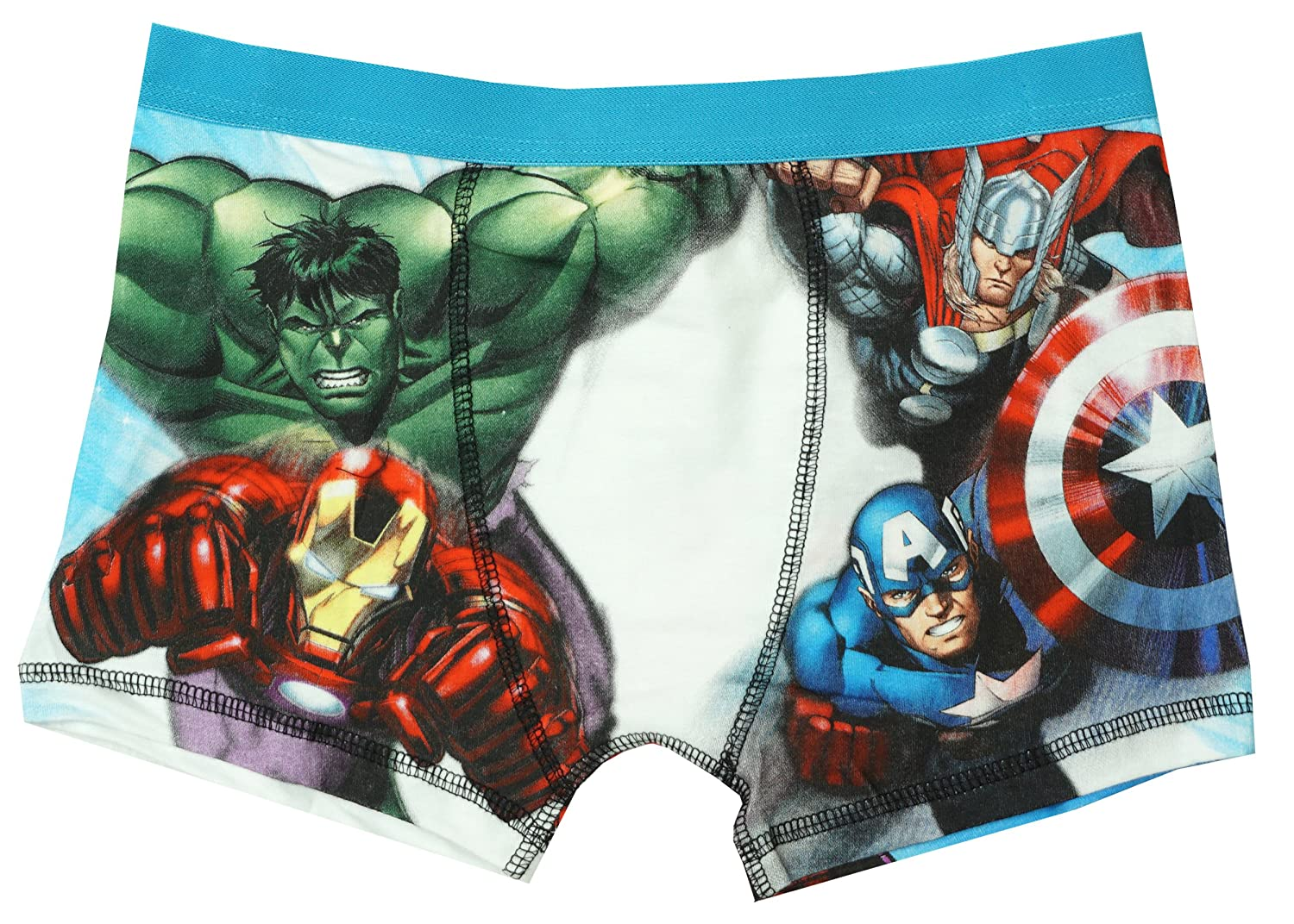 Marvel Boys Avengers Hulk Thor Ironman Trunk Fit Boxer Style Briefs Sizes from 4 to 10 Years
