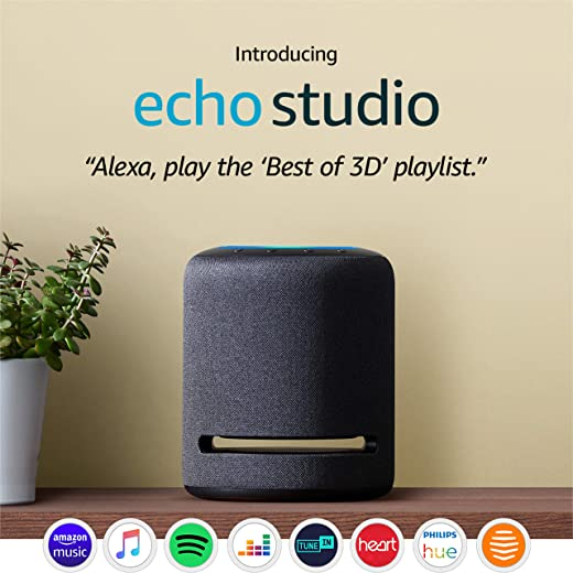 Echo Studio, Certified Refurbished | High-fidelity smart speaker with 3D audio and Alexa