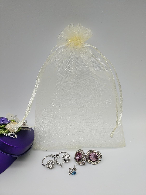 Ankirol 100pcs Sheer Organza Favor Bags 5x7\'\' For Wedding Baby ...