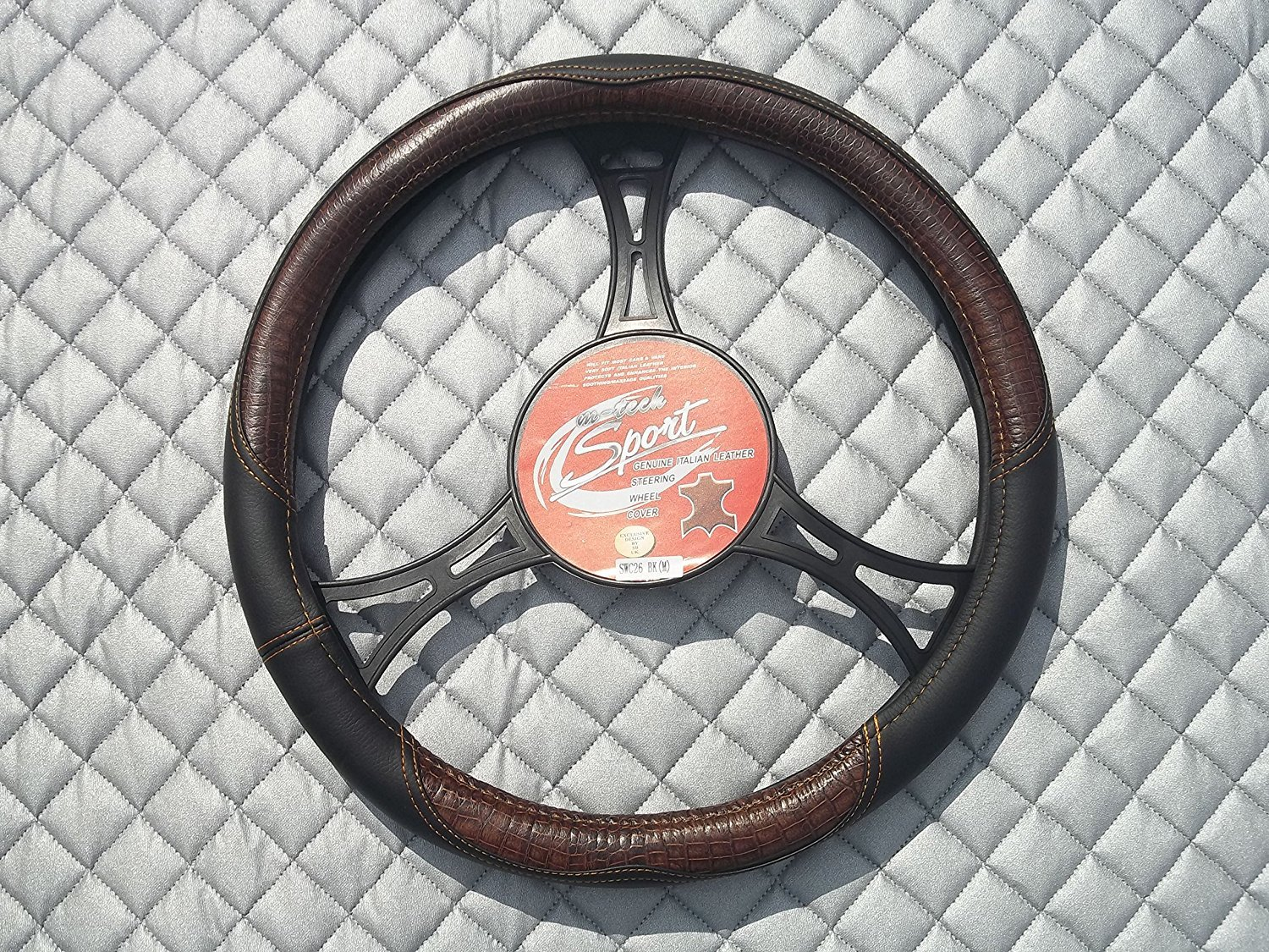 Italian Leather Steering Wheel Cover fit RENAULT I