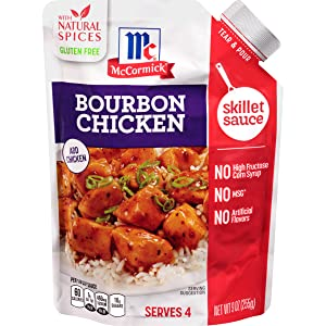 McCormick Gluten Free Bourbon Chicken Skillet Sauce, 9 Ounce (Pack of 6)