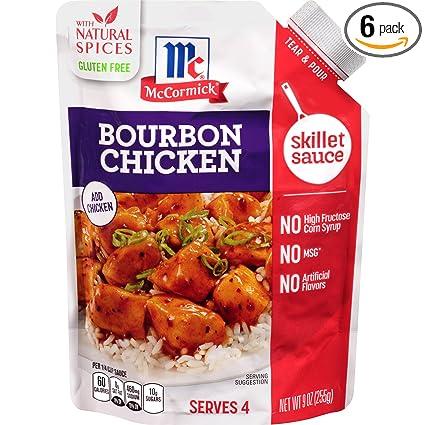 McCormick Gluten Free Bourbon - Juego de 6 platos de pollo ...